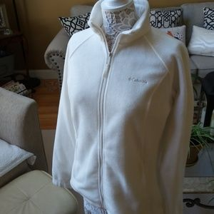 NWOT! Off WHITE COLUMBIA ZIPPERED Fleece JACKET